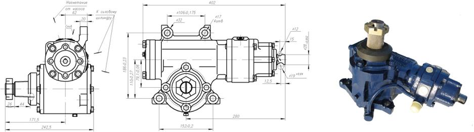 Рулевой механизм с распределителем 64221-3400010, 64229-3400010 7