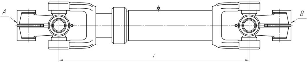 Карданный вал рулевого управления МАЗ 1